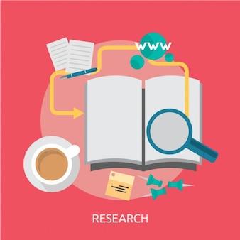 Conception d'arrière-plan de la recherche