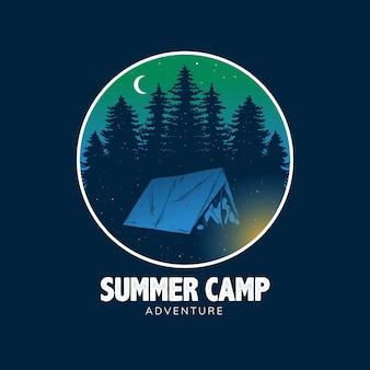 Conception d'art de camp d'été