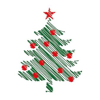 Conception d'art graphique d'arbre de noël. sapin du nouvel an.