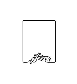 Conception d'art de ligne de vecteur d'icône de moto de moteur. illustration vectorielle.