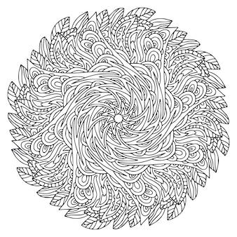 Conception d'art de mandala. motif ornemental bohème