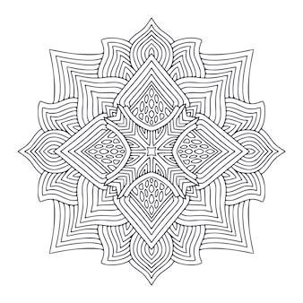 Conception d'art de tatouage modèle d'ornement détaillé