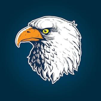 Conception d'art tête d'aigle