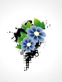 Conception artistique de fleur de vecteur