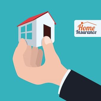 Conception de l'assurance, illustration vectorielle.