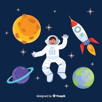 Conception d'astronaute créative