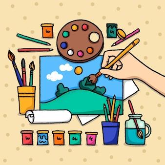 Conception d'atelier créatif bricolage