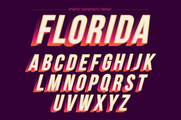 Conception audacieuse de typographie aux couleurs vives