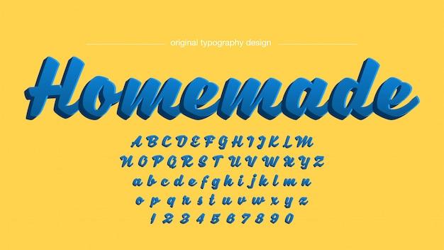 Conception audacieuse de typographie manuscrite en 3d