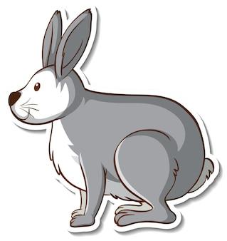 Conception d'autocollant avec lapin mignon isolé