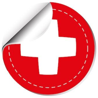 Conception d'autocollant pour le drapeau suisse