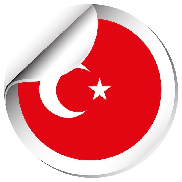 Conception d'autocollants pour le drapeau de la turquie
