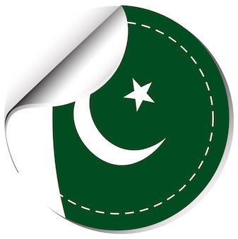 Conception d'autocollants pour le pakistan