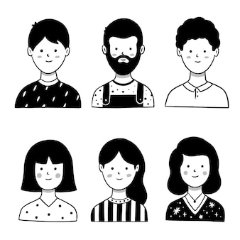 Conception d'avatar de personnes illustrée