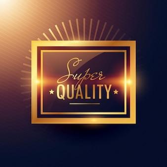 Conception de badge d'étiquette dorée super qualité