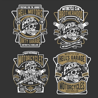 Conception de badge hell motors