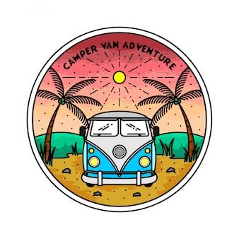 Conception de badge monoline extérieur