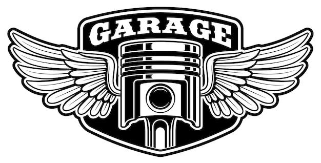 Conception de badge motard avec piston
