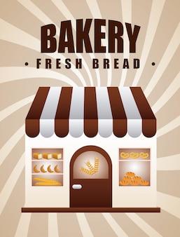 Conception de bakeryl, illustration vectorielle illustration eps10