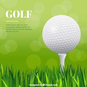 Conception de balle de golf avec de l'herbe