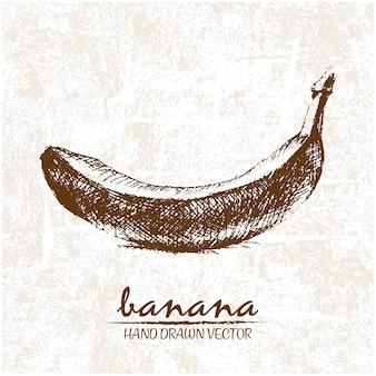 La conception de la banane tirée par la main