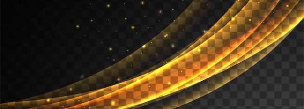 Conception de bannière abstraite vague rougeoyante
