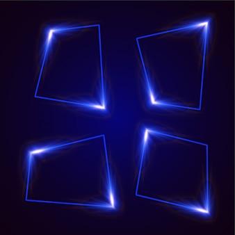 Conception de bannière abstraite vecteur lumineux. conception de bannière modèle bleu.