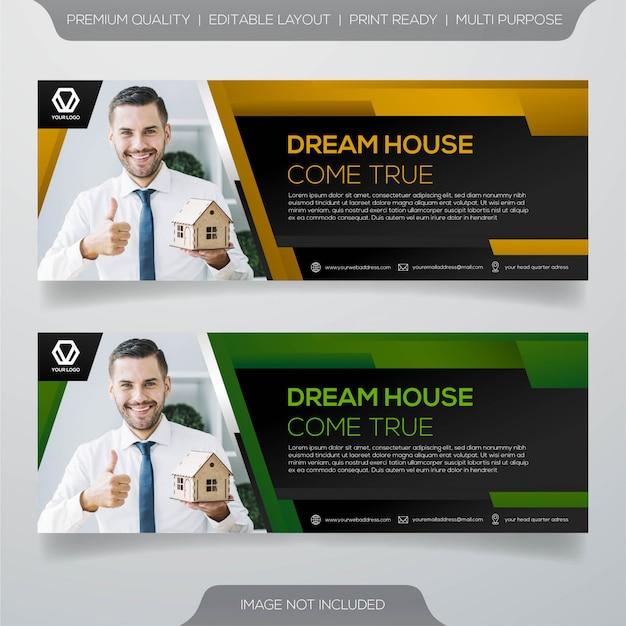 Conception de bannière d'agence immobilière