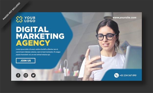 Conception de bannière d'agence de marketing numérique