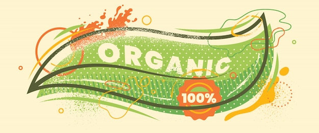 Conception de bannière d'aliments biologiques