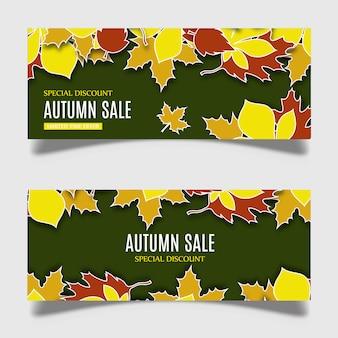 Conception de bannière automne vecteur coloré