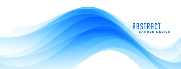 Conception de bannière bleu abstrait ondulé
