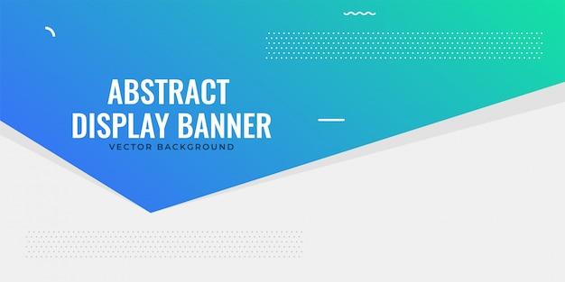 Conception de bannière bleu web élégant