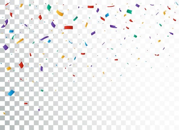 Conception de bannière de célébration de confettis colorés