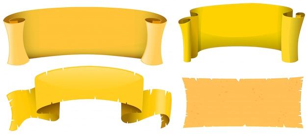 Conception de bannière de couleur jaune
