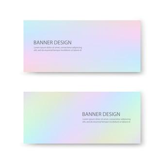 Conception de bannière avec des couleurs pastel