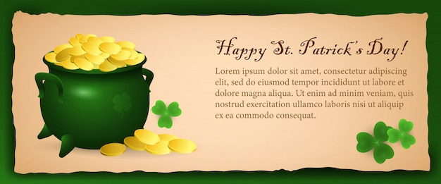 Conception de bannière créative happy saint patricks day