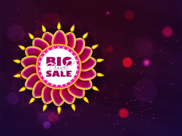 Conception de bannière diwali big sale.