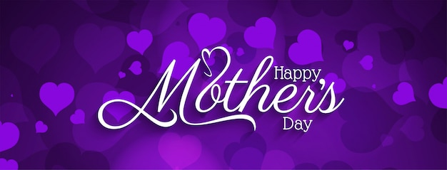 Conception de bannière élégante heureuse fête des mères