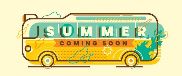 Conception de bannière d'été