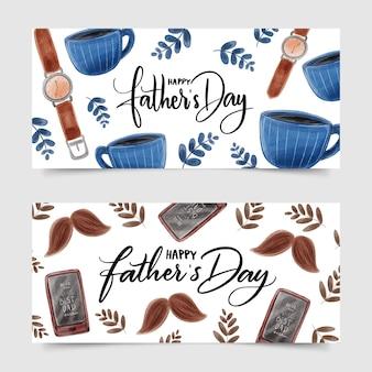 Conception de bannière de fête des pères