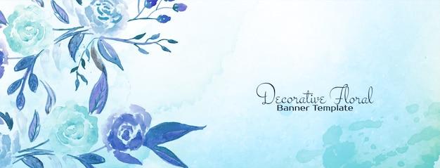 Conception de bannière florale colorée abstraite