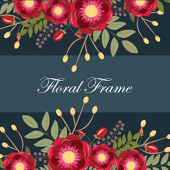 Conception de bannière florale