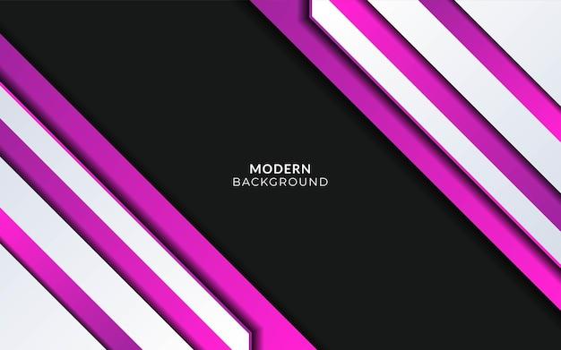 Conception de bannière de fond de forme violette abstraite moderne.