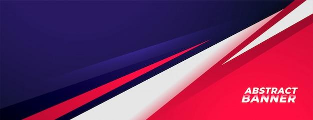 Conception de bannière de fond de style sportif dans des couleurs rouges et violettes