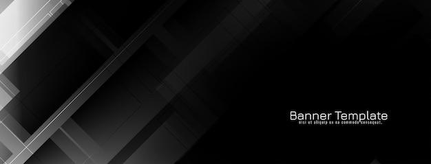 Conception de bannière géométrique abstraite de couleur noire