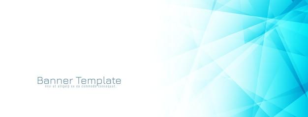 Conception de bannière géométrique bleue abstraite