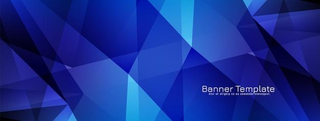 Conception de bannière géométrique moderne abstraite