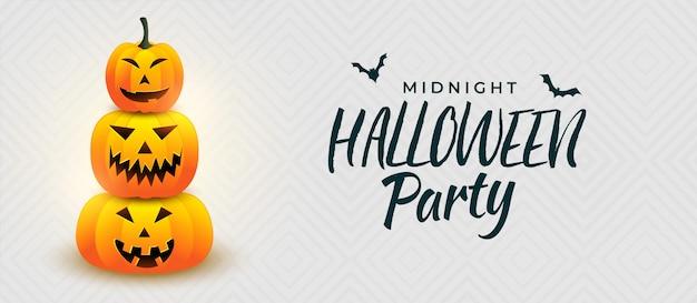 Conception de bannière halloween pimpkin party