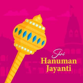 Conception de bannière hanuman jayanti
